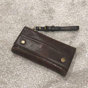 Frye wallet - soft cognac leather wallet